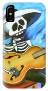 Skeleton Guitar Day Of The Dead  IPhone Case