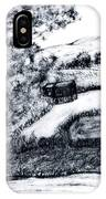 Sketch Of Country Scene IPhone Case