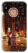 Sketch Of Midtown Clock In The Snow IPhone Case
