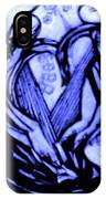 Sketch Of Statue In Blue IPhone Case