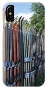 Ski Fence IPhone Case