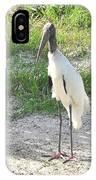 Skinny Wood Stork IPhone Case
