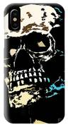 Skull Against A Dark Background IPhone Case