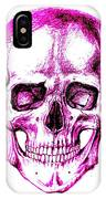 Skull In Purple IPhone Case