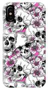 Skulls And Red Flowers IPhone Case