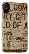 Sky City Sign IPhone Case