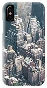 Skyscrapers View From Above Building 83641 3840x1200 IPhone Case