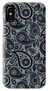 Slate Gray Paisley Design IPhone Case