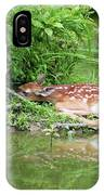 Sleep Fawn White Tailed Deer IPhone Case