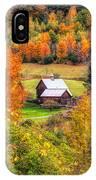 Sleepy Hollow Farm In Fall IPhone Case