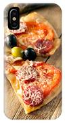 Slices Of Homemade Pizza With Salami IPhone Case
