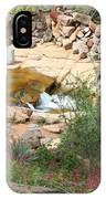 Slide Rock With Pink Wildflowers IPhone Case
