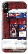 Small Format Paintings For Sale Poutine Lafleur Montreal Petits Formats A Vendre Cspandau Artist  IPhone Case