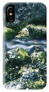 Small Freshwater Spring Under Rocks IPhone Case