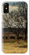 Small Herd In Winter IPhone Case