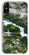 Small River In Forest In Winter IPhone Case