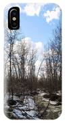 Small Stream In Spring IPhone Case