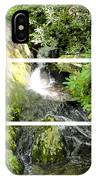 Small Waterfall Smoky Mountains Triptych IPhone Case