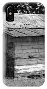 Small White Barn B W IPhone Case
