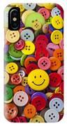 Smiley Face Button IPhone Case
