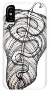 Snake On A Leaf IPhone Case