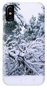 Snow Burdened Tree In The Flatirons IPhone Case