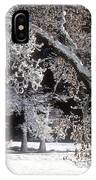 Snow Covered Black Oak Yosemite National Park IPhone Case