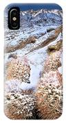 Snow Covered Cactus Below Mount Whitney Eastern Sierras IPhone Case