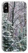 Snow-covered Forest, Wisconsin, Usa IPhone Case