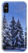 Snow Covered Trees IPhone Case