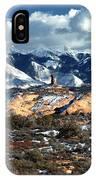 Snow Covered Utah Mountain Range IPhone Case