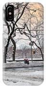 Snow Day On 5th Avenue IPhone Case