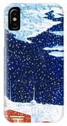 snow falling on Istanbul IPhone Case