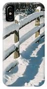 Snow Fence IPhone Case