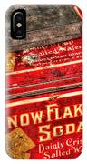 Snow Flake Sodas 767 IPhone Case