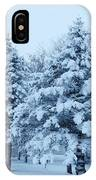 Snow Flocked Pines IPhone Case