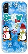 Snow Fun Penguins IPhone Case