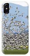 Snow Geese Exodus IPhone Case