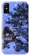 Snow, Historic Villages Of Shirakawa, Japan IPhone Case
