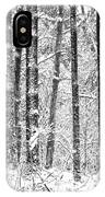 Snow In A Forest IPhone Case