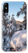 Snow In Saxon Switzerland IPhone Case