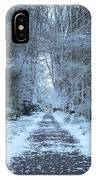 Snow In The Avenue IPhone Case