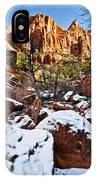 Snow In The Canyons IPhone Case