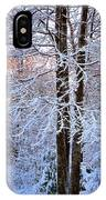Snow Maple Morning IPhone Case