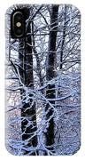 Snow Maple Morning Landscape IPhone Case