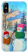 Snow Mom And Son IPhone Case