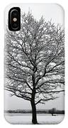 Snow On Epsom Downs Surrey Uk IPhone Case