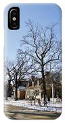 Snow On The Duke Of Gloucester Street  IPhone Case