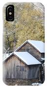 Snow On The Mill IPhone Case