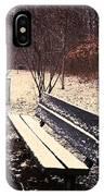 Snow Park Bench IPhone Case
